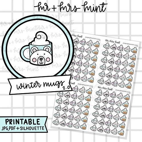 Winter Cute Animal Mugs | Printable!