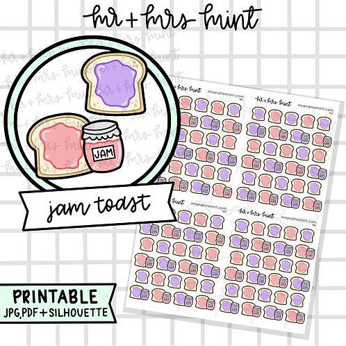 Jam Toast | Printable