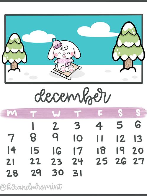 December 2020 Calendar | Printable