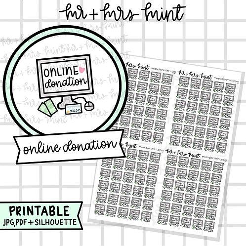 Online Donation | Printable