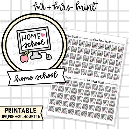 Home school | Printable