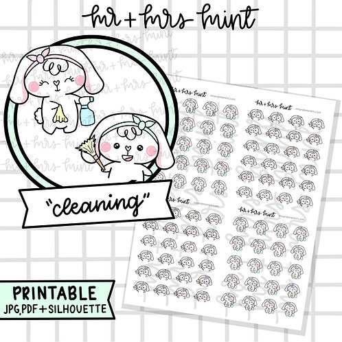 Bonnie Cleaning   Printable