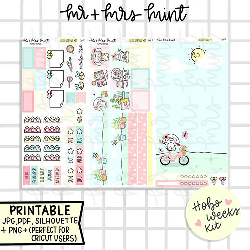 Hello Spring Hobonichi Weeks Kit | Printable