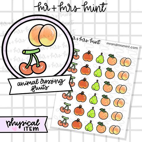 Animal Crossing Game - Fruits