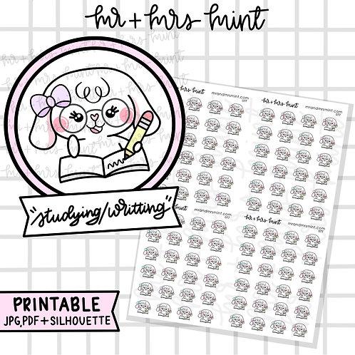 Bonnie Studying / Writting | Printable