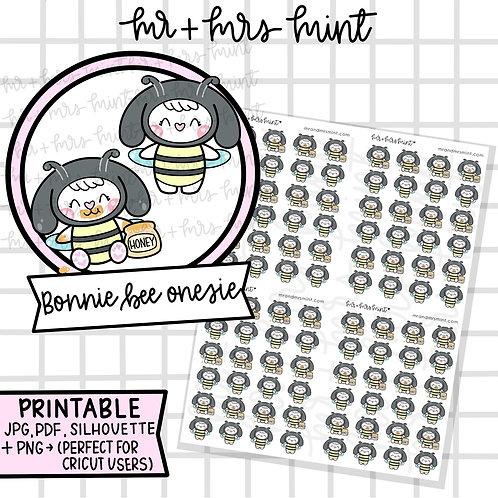 Bonnie Bee Onesie | Printable