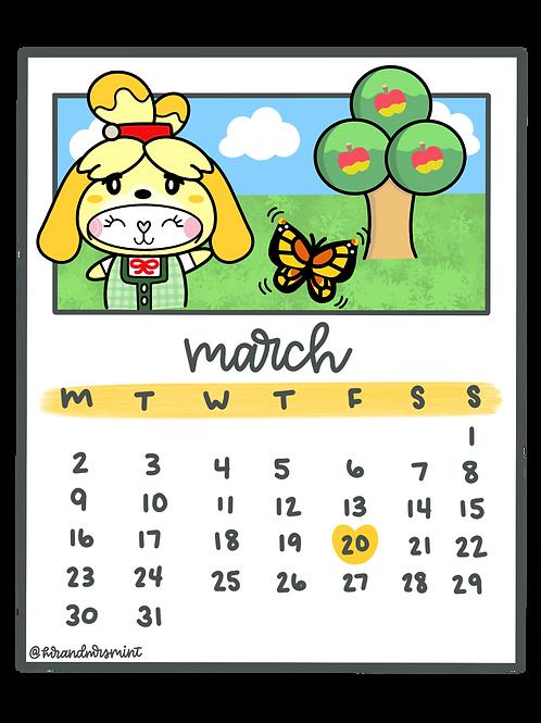 March 2020 Calendar | Printable