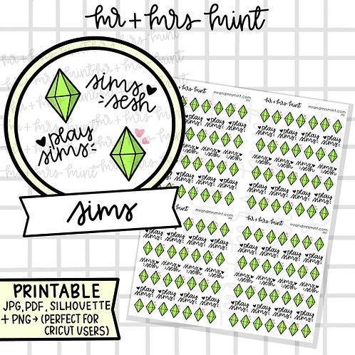 Sims   Printable
