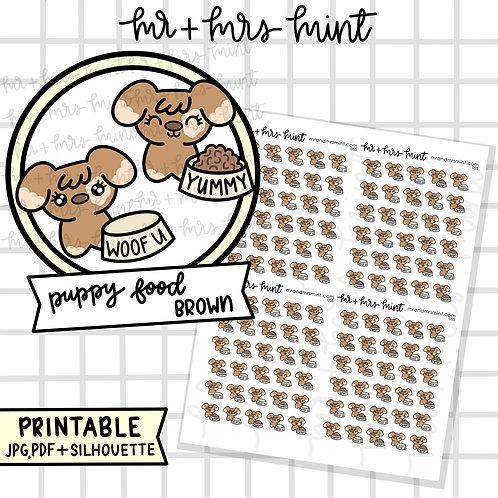 Puppy Food Brown | Printable