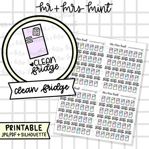 Clean Fridge | Printable