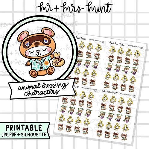 Animal Crossing Game - Bonnie Characters   Printable