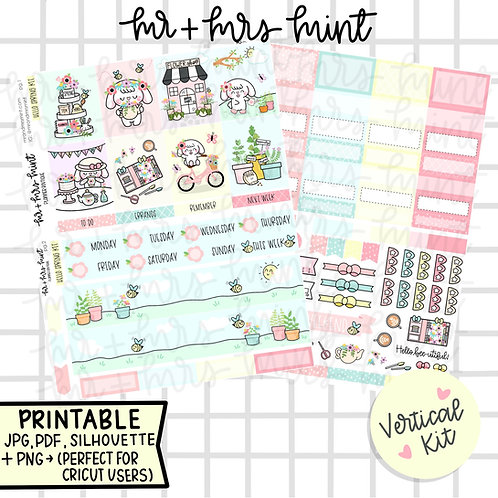 Hello Spring Vertical Mini Kit | Printable
