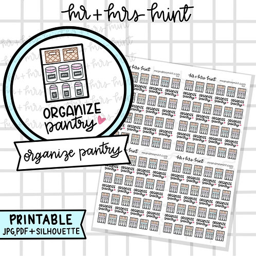 Organize Pantry | Printable