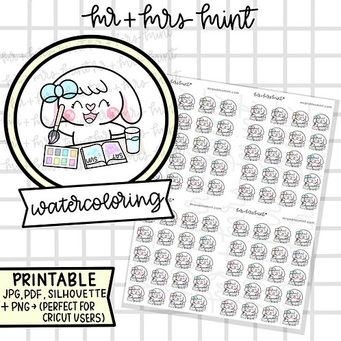 Bonnie Watercoloring | Printable