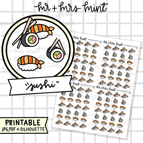 Sushi | Printable