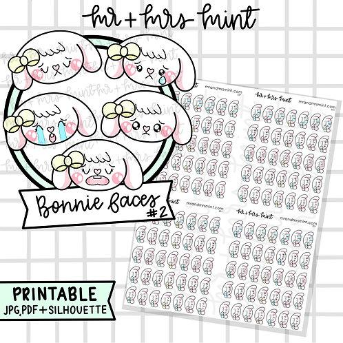 Bonnie Faces #2 | Printable
