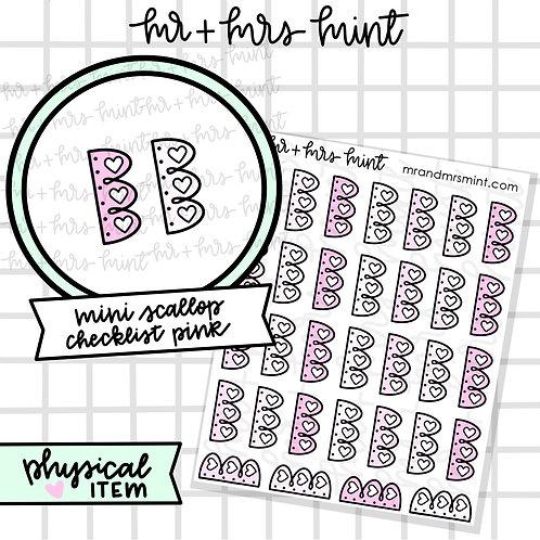 Mini Scallop Checklist - Pinks