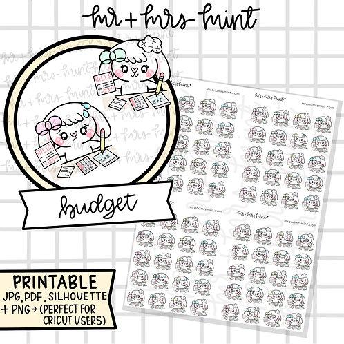 Bonnie Budget | Printable