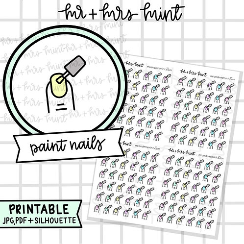 Paint Nails | Printable