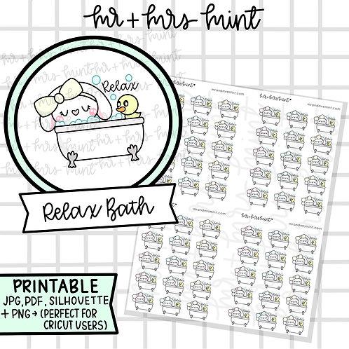Bonnie Relax Bath | Printable