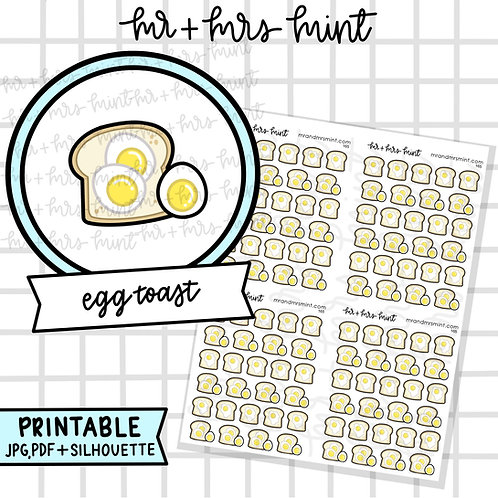 Egg Toast | Printable