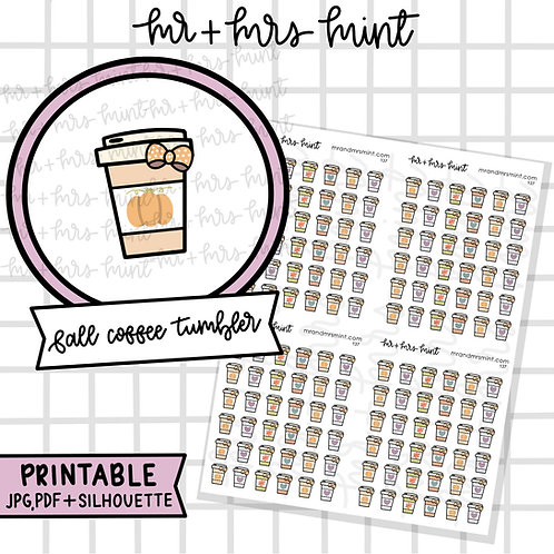 Fall Coffee Tumbler | Printable