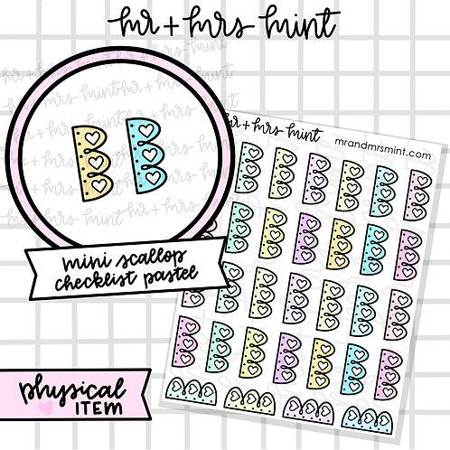 Mini Scallop Checklist - Pastels