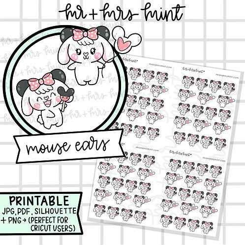 Bonnie Mouse Ears | Printable