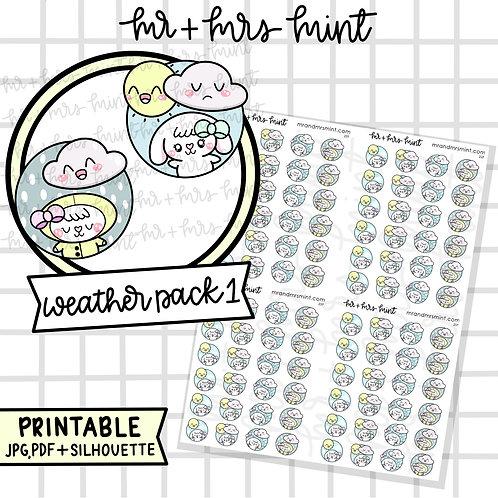 Bonnie Weather Pack 1 | Printable