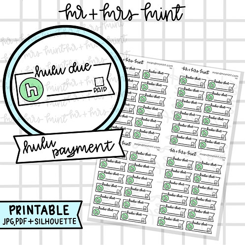 Hulu Payment   Printable