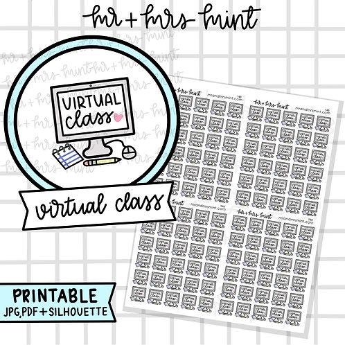 Virtual Class | Printable