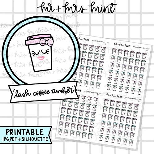 Lash Coffee Tumbler | Printable