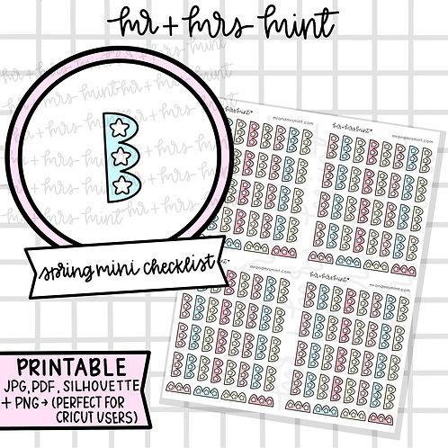 Spring Collection Mini Checklist | Printable
