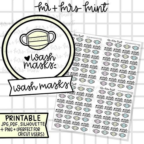 Wash Masks | Printable