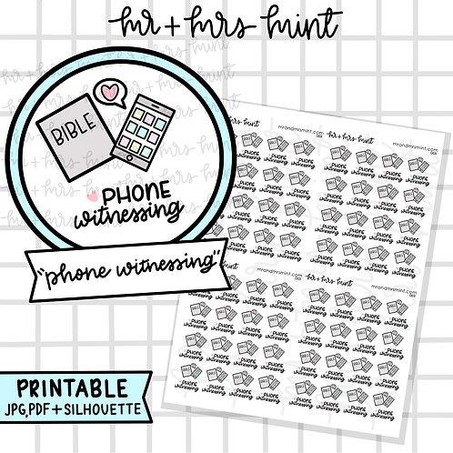 Phone Witnessing | Printable