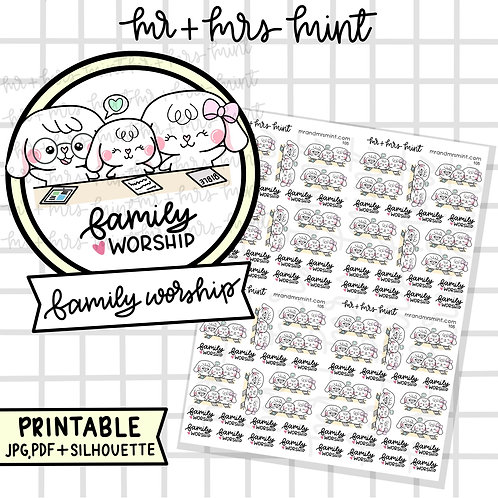 Bonnie - Family Worship | Printable