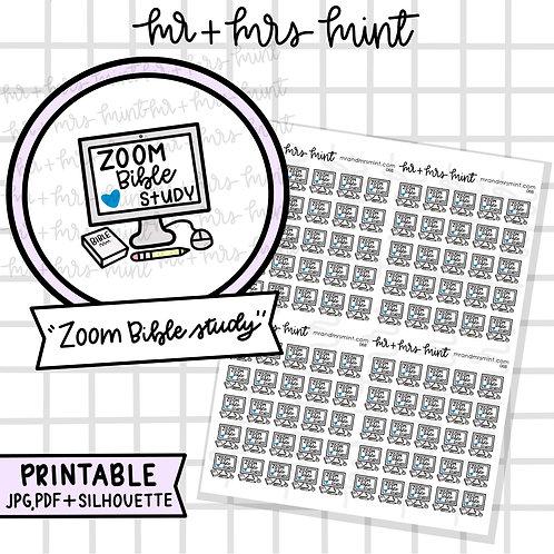 Zoom Bible Study | Printable