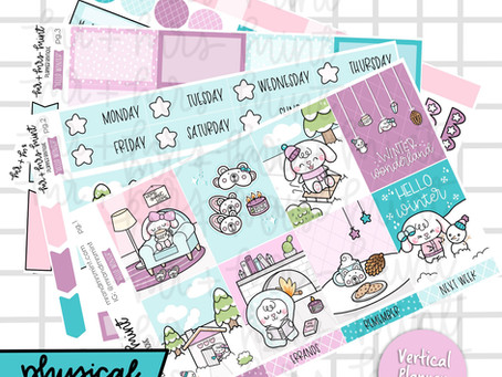 Winter Collection Planner Stickers Release | Mr + Mrs Mint Planner Boutique