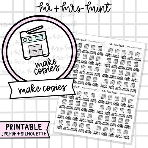 Make Copies | Printable