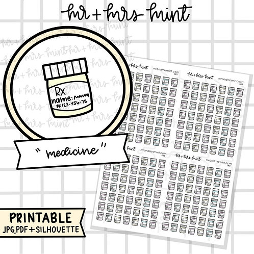 Medicine | Printable