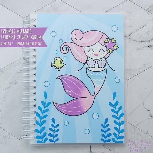 Mermaid Freckles - Reusable Sticker Album