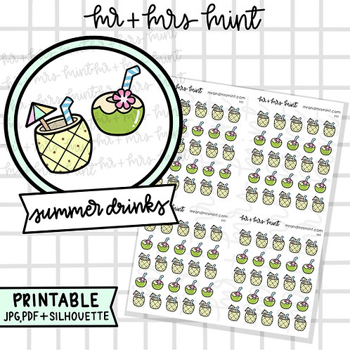 Summer Drinks | Printable