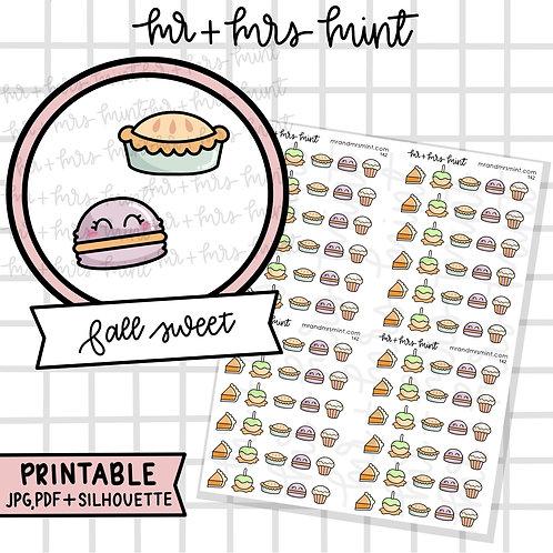 Fall Sweets | Printable