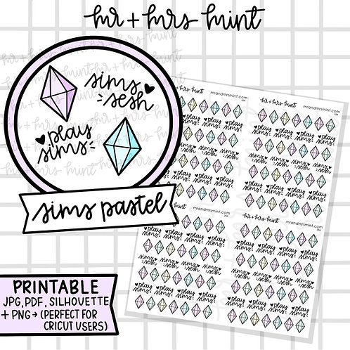 Sims - Pastels | Printable
