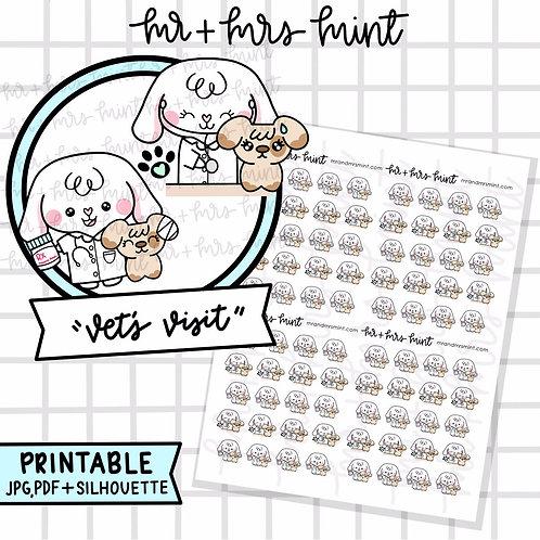 Bonnie Vet Visit | Printable