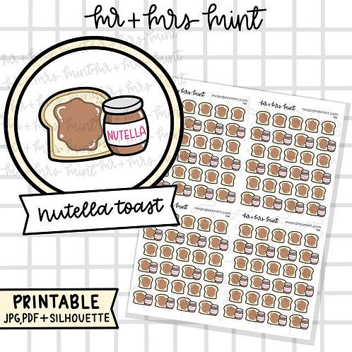 Nutella Toast | Printable