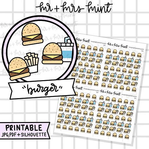 Burger | Printable