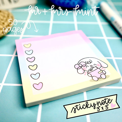50 pgs | Bonnie Planner Lover Sticky Note