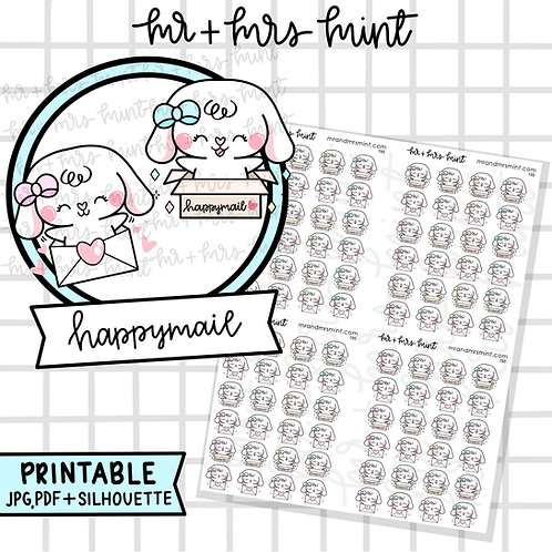 Bonnie Happymail | Printable
