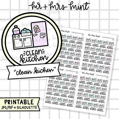 Clean Kitchen | Printable